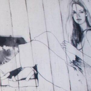 Стеновая панель из массива дуба (девушка) (Париж)
