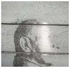 Декор на стеновой панеле Лицо