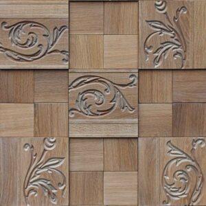 деревянная стеновая 3D панель