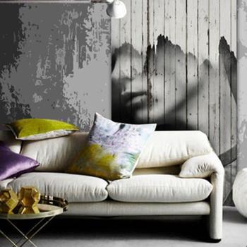 стеновые панели дерево гостинная