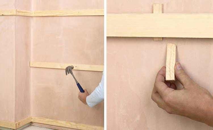 Крепление стеновых панели из дерева для внутренней отделки