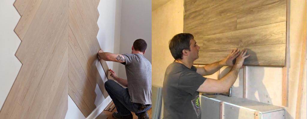 Монтаж панелей на стену