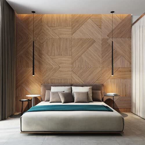 Стеновое дерево для спальни