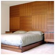 Стеновые панели реечные в спальне