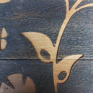 Деревянная стеновая панель Last Shadow черная