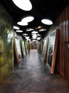 Паркет шереметьевский ромб в кинотеатре Москва