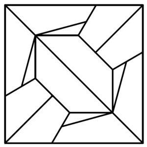 Схема укладки модульного паркета Рамбла (авторская)