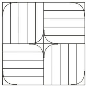 Схема укладки модульного паркета Бидермейер