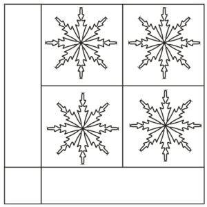 Схема укладки модульного паркета Нортелье
