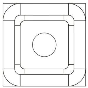 Схема укладки модульного паркета Модерато компании ПаркетАрт