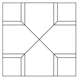 Схемы укладки и чертежи модульного паркета Курфюрст