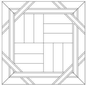 Схема укладки модульного паркета Буда