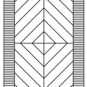 Схема и чертеж модульного паркета Прованс