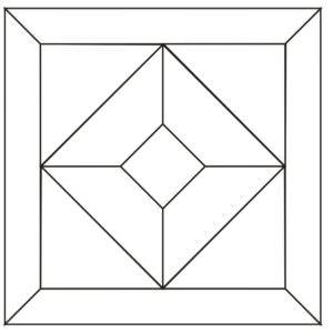 Схема укладки и чертеж модульного паркета Сан Марко