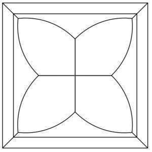 Схема укладки модульного паркета Терни