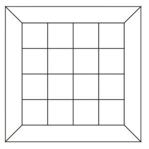 Схема укладки чертеж модульного паркета Роудвей